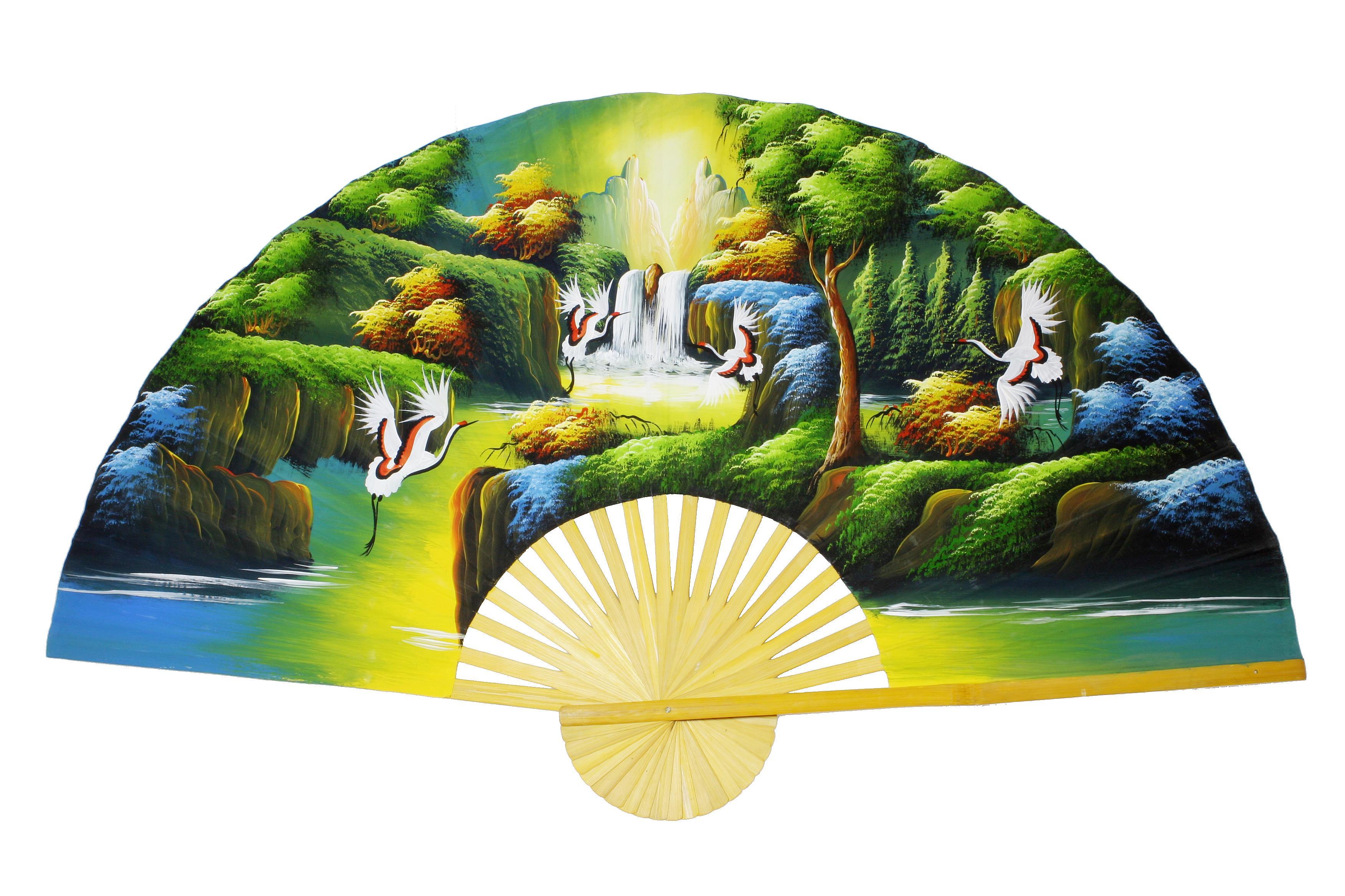 Deko Wandfächer aus Thailand