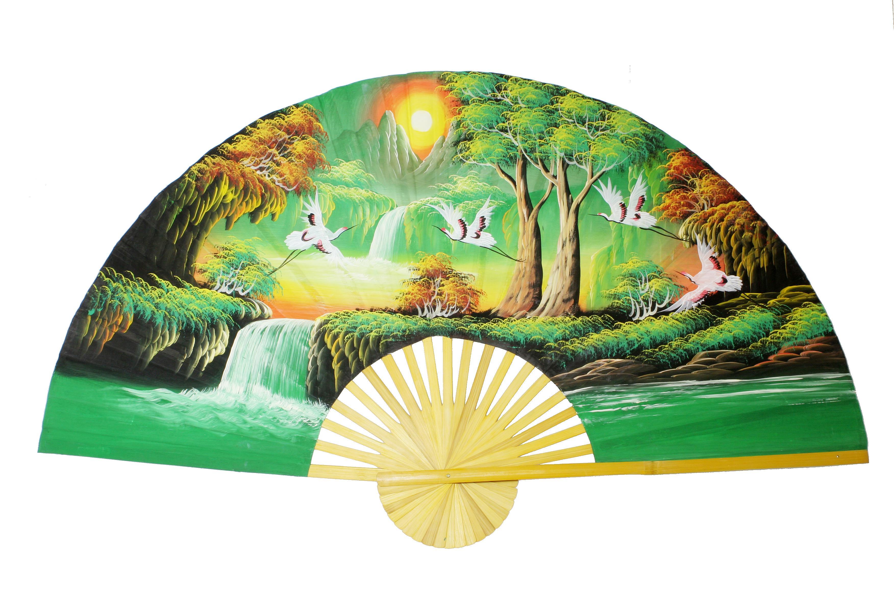 Wandfächer (Green mood)