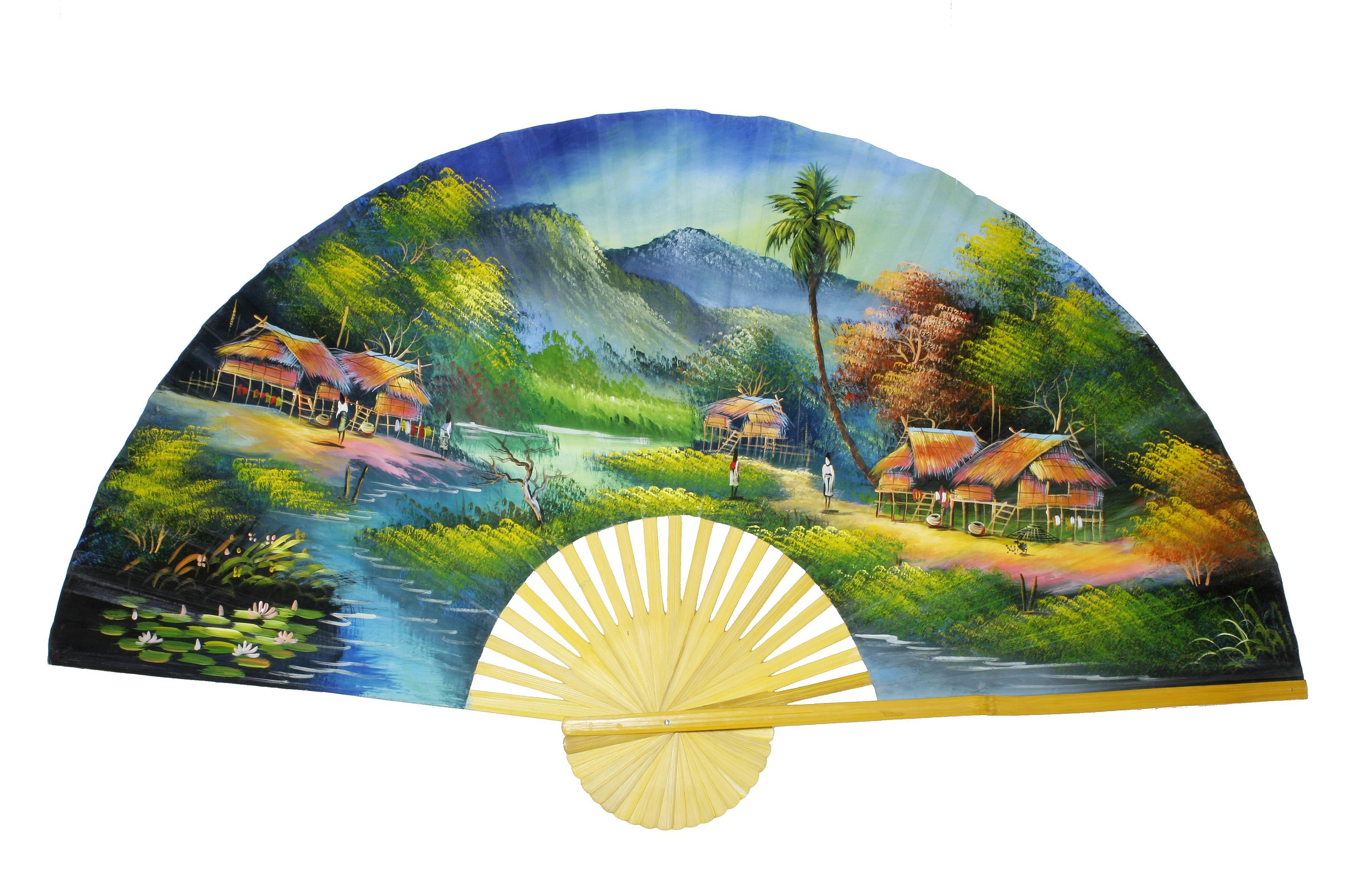 Wandfächer aus Thailand (Fluss)